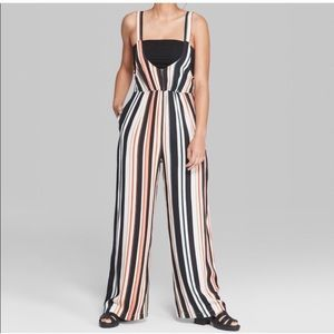 Wild fable sleeveless striped jumpsuit